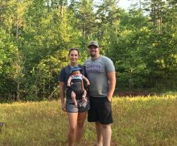 Our daughter (Brady), Son-in-Love (Eric), and Grandson (Ellis) when they closed on 10 acres adjoining ours.